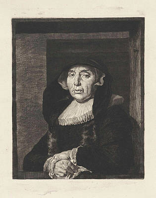 Portrait Of An Old Woman, Known As Bayken Bracht Poster by Willem Steelink (ii) And Govert Flinck