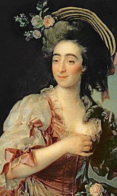Portrait Of Anna Davia Bernucci Poster