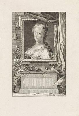 Portrait Of Anna Of Brunswick-lunenburg, Princess Of Orange Poster by Reinier Vinkeles