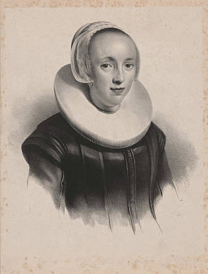 Portrait Of Anna Roemers Visscher, Anonymous Poster by Anonymous