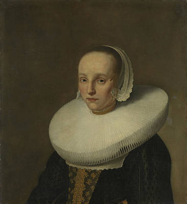 Portrait Of Anna Van Der Does, Wife Of Jan De Hooghe Poster by Litz Collection