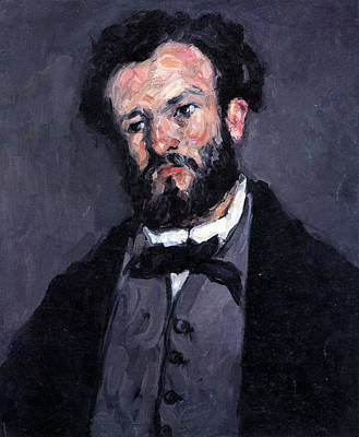 Portrait Of Antony Valabrgue By Cezanne Poster