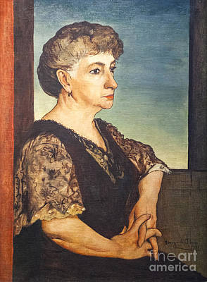 Portrait Of Artist's Mother By Giorgio De Chirico Poster by Roberto Morgenthaler