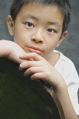 Portrait Of Asian Boy Poster by Ross Germaniuk