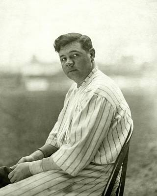 Portrait Of Babe Ruth Poster by Nicholas Muray
