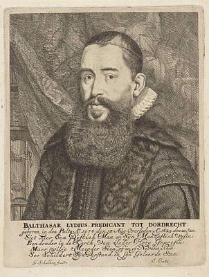 Portrait Of Balthasar Lydius, Godfried Schalcken Poster by Godfried Schalcken And Jacob Cats