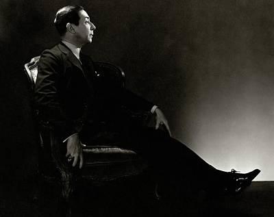 Portrait Of Baron Adolph De Meyer Poster