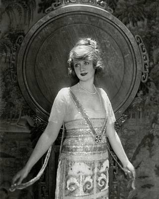Portrait Of Billie Burke Poster by Baron Adolphe De Meyer