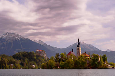 Poster featuring the photograph Portrait Of Bled Slovenia by Graham Hawcroft pixsellpix