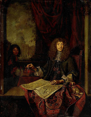 Portrait Of Carel Quina 1620-89, Knight Of The Holy Poster by Litz Collection