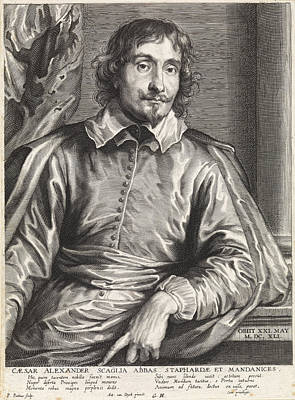 Portrait Of Cesare Alessandro Scaglia, Paulus Pontius Poster by Quint Lox