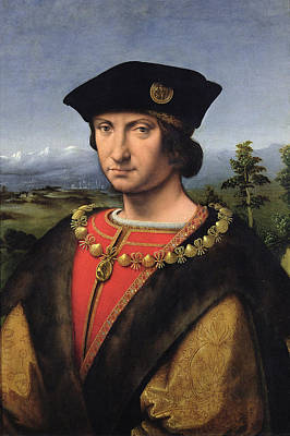 Portrait Of Charles Damboise 1471-1511 Marshal Of France Oil On Panel Poster