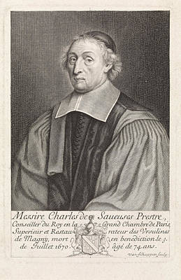 Portrait Of Charles The Saveuses, Pieter Van Schuppen Poster
