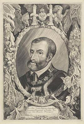 Portrait Of Charles V Of Habsburg, Jonas Suyderhoef Poster by Jonas Suyderhoef And Pieter Claesz. Soutman