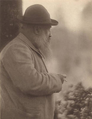 Portrait Of Claude Monet 1841-1926 27th August 1905 Bw Photo Poster by French Photographer
