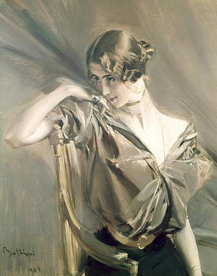 Portrait Of Cleo De Merode Poster by Giovanni Boldini