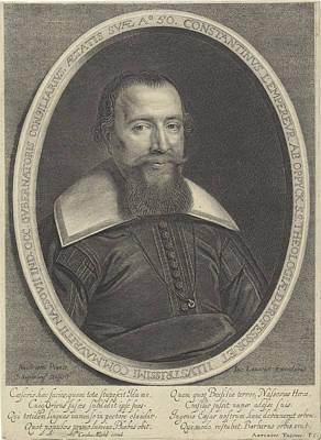Portrait Of Constantijn Van Oppyck Lempereur Poster by Quint Lox