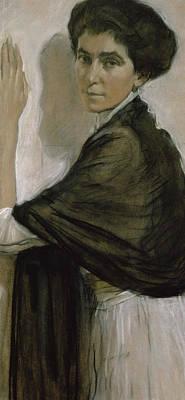 Portrait Of Countess Olsuphyev Poster by Valentin Serov