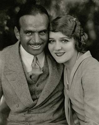 Portrait Of Douglas Fairbanks And Mary Pickford Poster