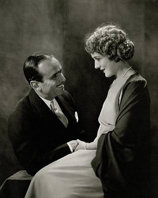 Portrait Of Douglas Fairbanks With His Wife Poster by Edward Steichen