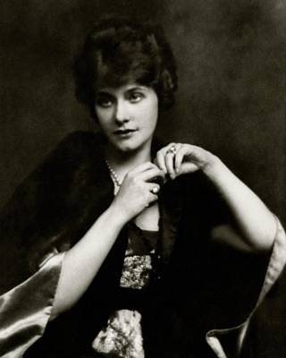 Portrait Of Elsie Ferguson Poster by Arnold Genthe