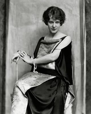 Portrait Of Elsie Ferguson Poster by Nicholas Muray