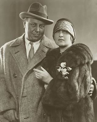 Portrait Of Emil Jannings And His Wife Gussy Holl Poster