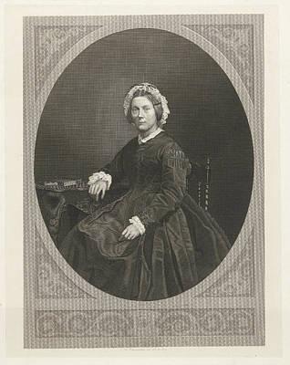 Portrait Of Emma Boissevain - Nicholls, Friedrich Wilhelm Poster by Friedrich Wilhelm Burmeister