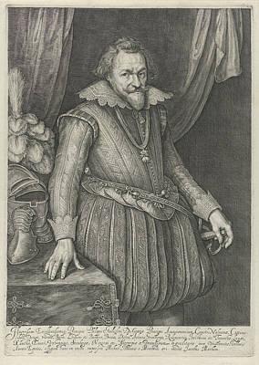 Portrait Of Filips Willem, Prins Van Oranje Poster by Jacob Matham
