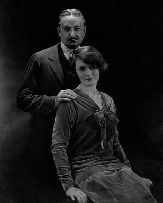 Portrait Of Florenz Ziegfeld And Wife Billie Poster by Edward Steichen