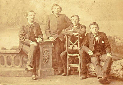 Portrait Of Four Young Men, Albert Greiner Poster
