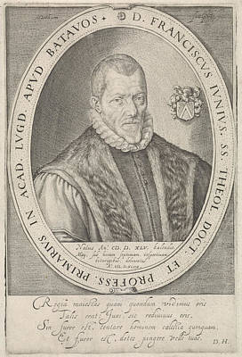 Portrait Of Francis Junius, Jacob Matham Poster