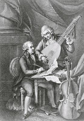 Portrait Of Franz Joseph Haydn Poster by John Francis Rigaud