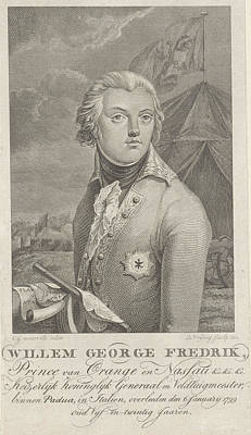 Portrait Of Frederick, Prince Of Orange-nassau Poster by Dani?l Vrijdag