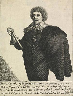 Portrait Of Frederik Hendrik, Prins Van Oranje Poster by Jan Gillisz. Van Vliet