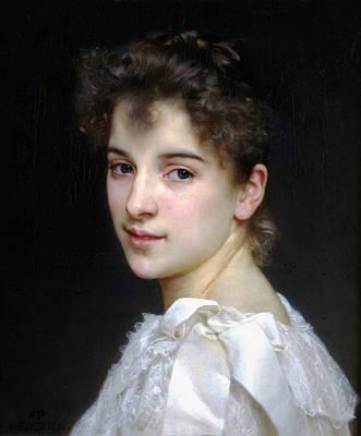 Portrait Of Gabrielle Cot Poster