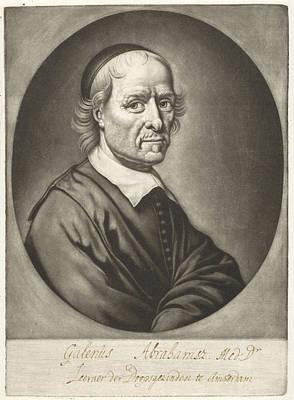 Portrait Of Galen Abrahamsz Rooster, Michiel Van Musscher Poster by Michiel Van Musscher
