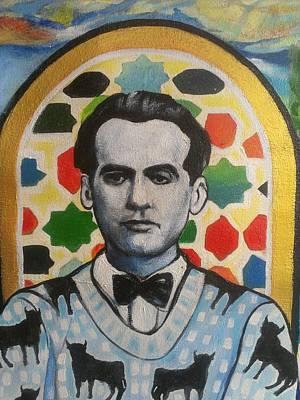 Portrait Of Garcia Lorca Poster by Karim Lachheb