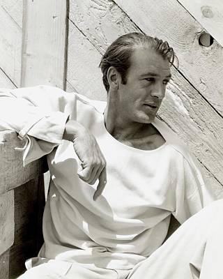 Portrait Of Gary Cooper Poster by George Hoyningen-Huene
