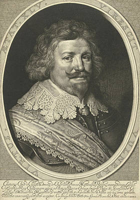 Portrait Of Gaspard De Coligny, Duke Of Chtillon At The Age Poster by Willem Jacobsz. Delff
