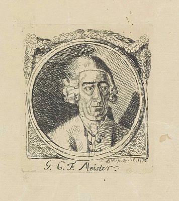 Portrait Of G.c.f Meister, Monogrammist Fbvr Poster