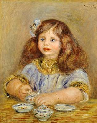 Portrait Of Genevieve Bernheim De Villiers Poster by Pierre-Auguste Renoir