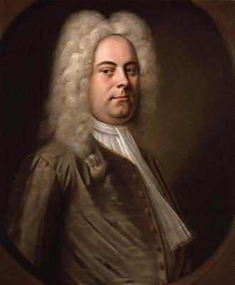 Portrait Of Georg Friedrich Handel Poster by Balthasar Denner