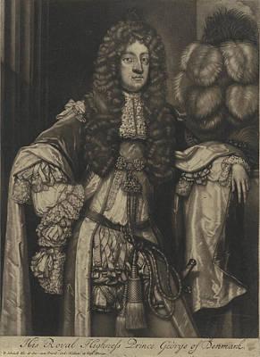 Portrait Of George, Prince Of Denmark, Pieter Schenk Poster by Pieter Schenk (i)