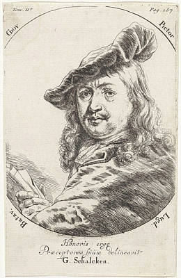 Portrait Of Gerard Dou, Print Maker Godfried Schalcken Poster by Godfried Schalcken