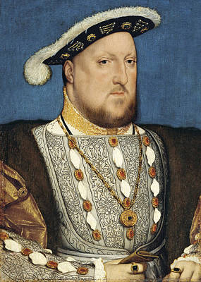 Portrait Of Henry Viii Of England Poster by Hans Holbein the Younger