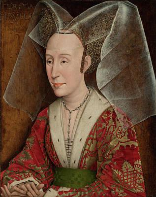 Portrait Of Isabella Of Portugal Workshop Of Rogier Van Der Poster by Litz Collection