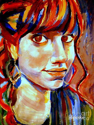 Poster featuring the painting Portrait Of Ivana by Helena Wierzbicki