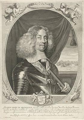 Portrait Of Jacob Baron Of Wassenaer Heer Van Obdam Poster by Theodor Matham And Adriaen Hanneman