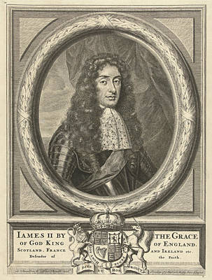 Portrait Of James Stuart, King Of England Poster by Litz Collection